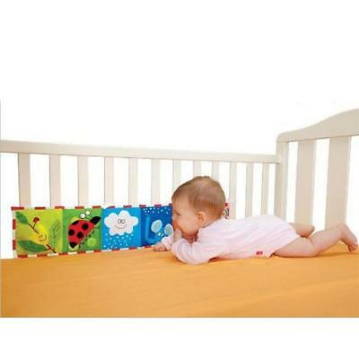 Baby Crib Bumper Baby Cloth Book Baby Rattles Around Bed Bumper For Kids Toys SH