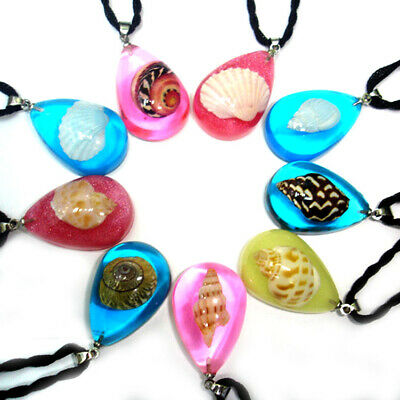 New real shell resin women necklaces Fashion colorful women lovers' pendants