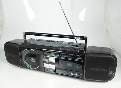 Philips D 8884 Tragbarer Cd-Player Radio Cassette Recorder Soundmachine Top ++