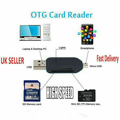All in 1 USB Memory Card Reader Micro USB OTG to USB 2.0 Adapter SD/Micro SD