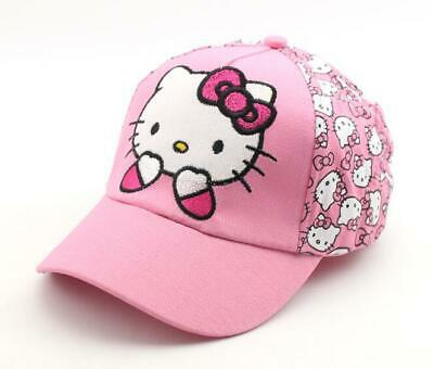 Cute Hello Kitty Kids Toddler Girls Cotton Trucker Hat Baseball Cap 2-8 Years