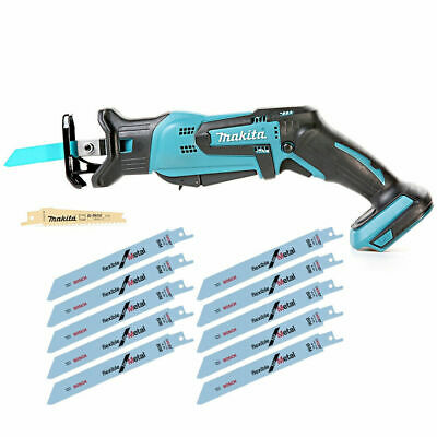 Makita DJR185 18V Li-ion Mini Reciprocating Saw With Bosch Saw Blade Pack of 2