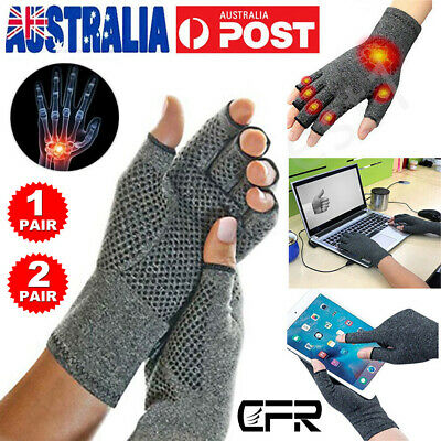 Carpal Tunnel Arthritis Gloves Compression Support Hand Wrist Brace Pain Relief