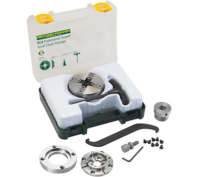 """Record Power SC4 Professional Geared Scroll Chuck with Thread Insert 1"""" x 8TPI"""