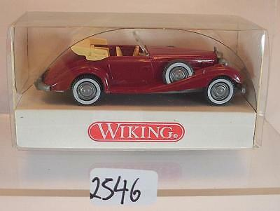 Wiking 1/87 Nr. 835 01 20 Mercedes Benz 540 K Cabrio rot OVP #2546