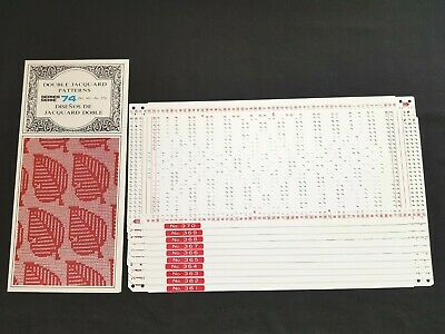 Pc220 Brother Knitting Machine Patterns Punch Cards Series 74 361-370 Jacquard