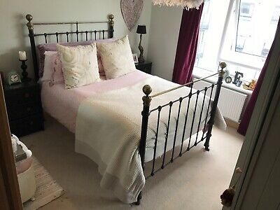 cast iron double bed