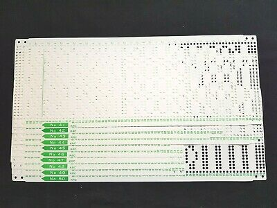 Pc226 Brother Knitting Machine Punch Cards Krc900 Colour Changer X10 41-50