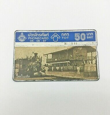 Old Phonecard Early Bangkok Old Rare Pair Thailand Siam antique Issue seek first