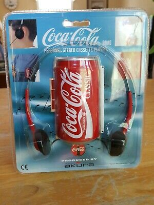 Vintage Coca-Cola Coke Can Cassette Tape Player W Headphones
