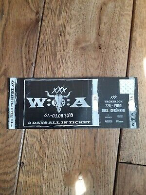 Verkaufe: Wacken Open Air 2019 Ticket - WOA - SOLD OUT