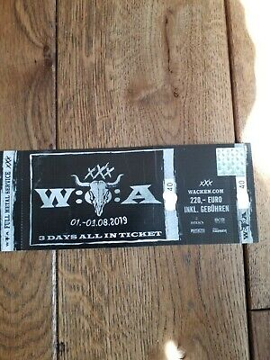 Wacken Open Air 2019 - Ticket - WOA - All in - SOLD OUT