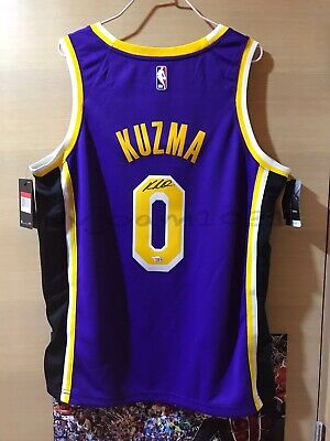 buy popular b7038 c46da NBA NIKE KYLE Kuzma Los Angeles Lakers Statement Autographed Swingman Jersey