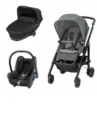 Maxi Cosi Loola 3 bundle with Foldable Carrycot and Cabriofix Car Seat - RRP£605