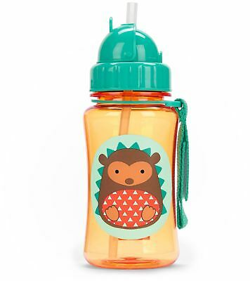 Skip Hop ZOO STRAW BOTTLE - HEDGEHOG Kids Straw Drinking Bottle BNIP