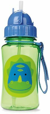 Skip Hop ZOO STRAW BOTTLE - DINOSAUR Kids Straw Drinking Bottle BNIP