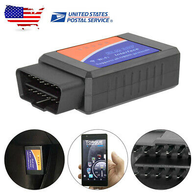 US Car Truck Wifi ELM327 OBD2 OBDII Diagnostic Scanner Code Reader Tool Black
