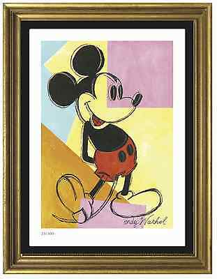 "Andy Warhol Signed/Hand-Numbered Ltd Ed ""Mickey Mouse"" Litho Print (unframed)"