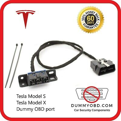 TESLA Model S and X - DUMMY OBD2 PORT LOCK anti theft security OBD Guard / Block