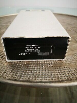 Montblanc Karl the  Great,  Fountain pen Unusued New!!