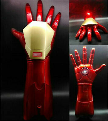 1:1 The Avengers Iron Man Stark Updated Glove LED Light Hand with Laser Cos Gift