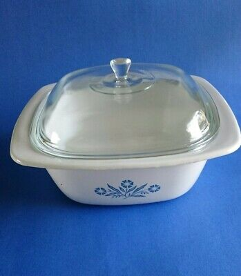 Corning Ware Blue Cornflower Dutch Oven With Lid
