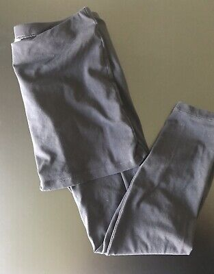 62eb54bbf95ae1 CABI #287 Black Soft Stretch Cotton Skirted Leggings M'Leggings size S EUC