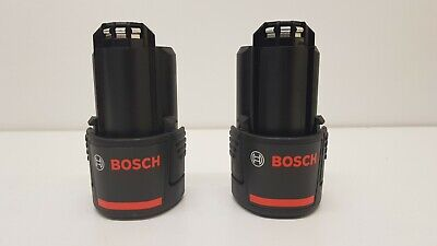 BOSCH GBA 12V ( 10.8V ) 2 x 2.0AH LI-ION BATTERY 2607336879 / 1600Z0002X Twin