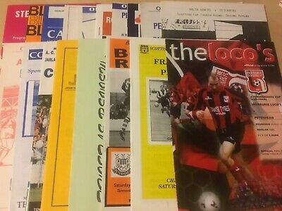 18 Peterhead Home And Away Cup Football Programmes From 1980-2003