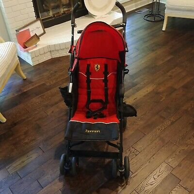Ferrari Prima Umbrella Stroller Red Black Kids Baby Children Hood F3010/1101