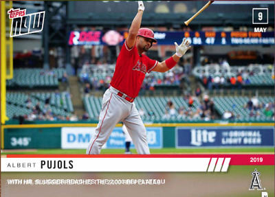 2019 TOPPS NOW VIDEO ALBERT PUJOLS Topps Bunt Digital Card