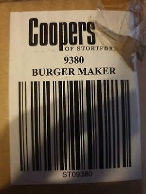 Coopers Of Stortford Burger Maker Model 9380 New In Opened Box No Instructions