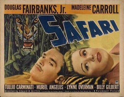 16mm feature film SAFARI w/ John Barrymore Jr.