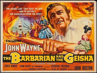 16mm feature film BARBARIAN & THE GEISHA   w/ John Wayne