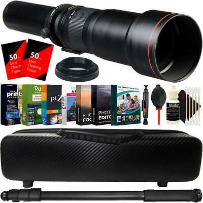 650mm-1300mm Telephoto Lens for Sony NEX a6300 a6000 a5100 a5000 Accessory Kit