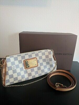 58c195c76ba35 AUTH LOUIS VUITTON Eva Clutch Monogram M95567 Shoulder Cross Bag ...
