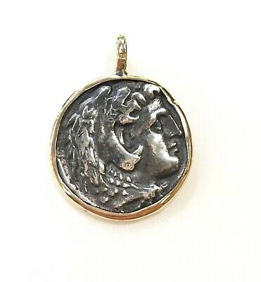 14k Yellow Gold Pendant with Ancient Roman Coin