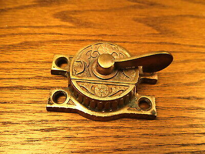 Brass ? Bronze ? Window Sash Lock...latch...ornate