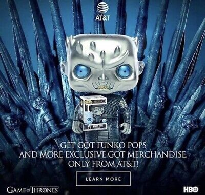 Funko Pop Metallic Night King AT&T Exclusive Game Of Thrones Confirmed