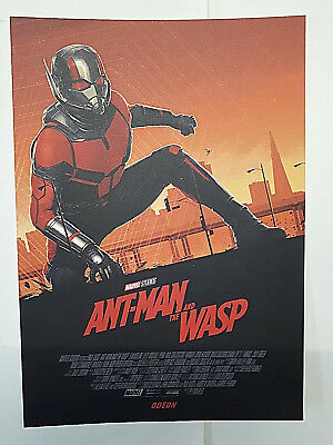 ODEON CINEMAS Promotional A4 Poster ANT MAN & THE WASP Promo