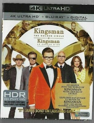 New Sealed 4K Ultra HD + Blu-Ray - KINGSMAN THE GOLDEN CIRCLE   Also In French