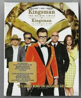 New Sealed Blu-Ray + DVD + Digital - KINGSMAN THE GOLDEN CIRCLE   Also In French