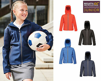 Regatta Junior Kids Octagon Hooded Softshell Jacket (TRA622) - Boys Girls School