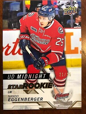 2019 Toronto Spring Expo UD CHL Midnight Rookie #327 Nando Eggenberger /25