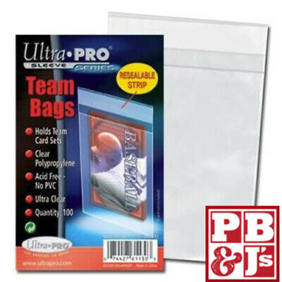 100 Ultra Pro Re-Sealable Team Set Bags Sleeves 1 New Pack