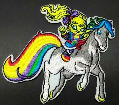 Rainbow Bright Patch Horse Iron On Applique 3.07 X 2.95 Unicorn Girl Colorful