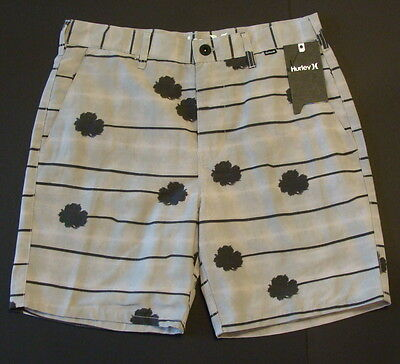 4153df07b1 NWT Hurley Men's Collective Palms Chino Walk Shorts Size 32 Light Iron ore