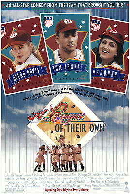 A League of Their Own 1992 27x40 Orig Movie Poster FFF-70161 Rolled Tom Hanks