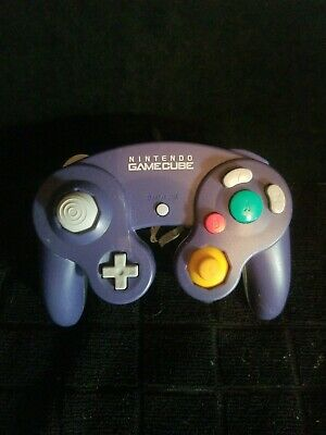 Official Purple and Clear Nintendo Gamecube Controller DOL-003 Cleaned Tested