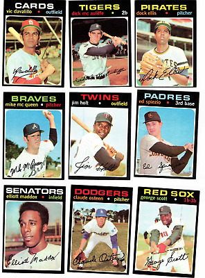 1960-69 TOPPS BASEBALL CARD LOT *FROM 10,000 CARD SET BUILDER LOT* EX-NRMT 10